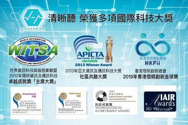 EasyHear清晰聽專利5G技術獲多項國際科技大獎